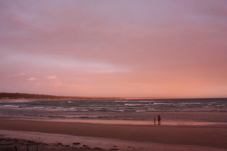 Lappiesbaai Beach at sunset