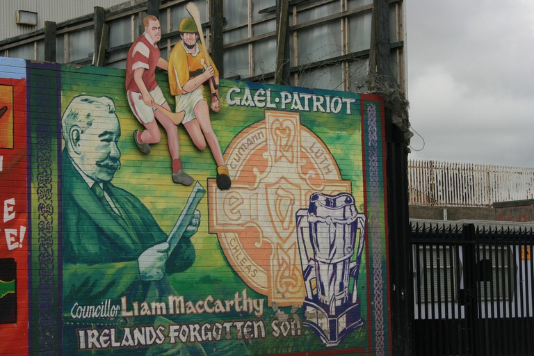 Gaelic Football Mural, West Belfast