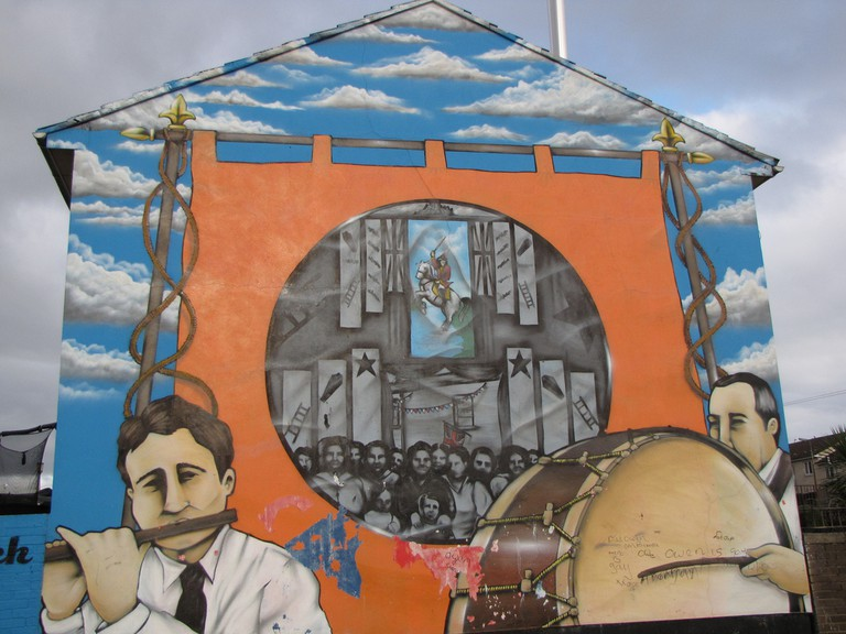 Loyalist Mural, Shankill Road