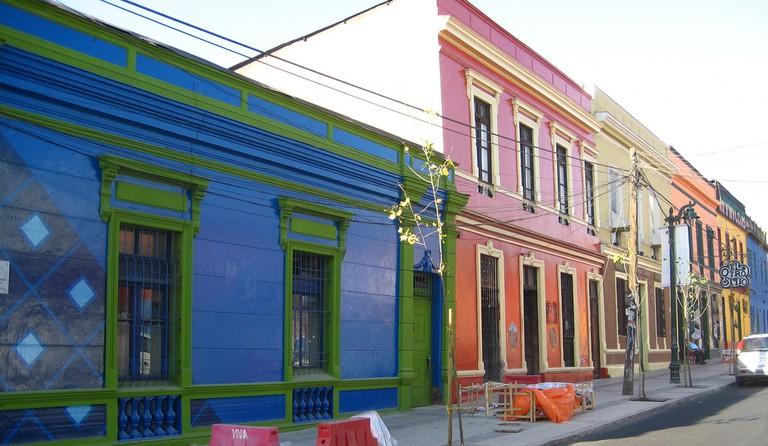 Bellavista Row, Bellavista, Santiago de Chile © Will Russell