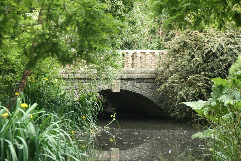 A view of the river in Peckham Rye Park