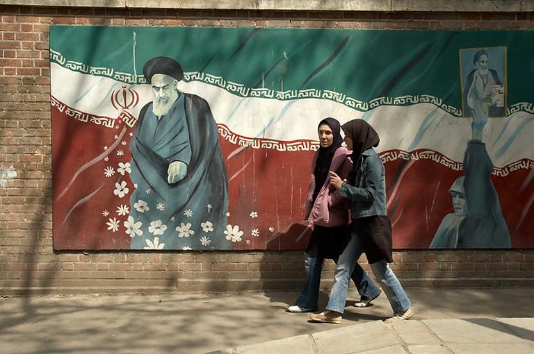 Many walls around Tehran depict its political figures | © Kamyar Adl / Flickr