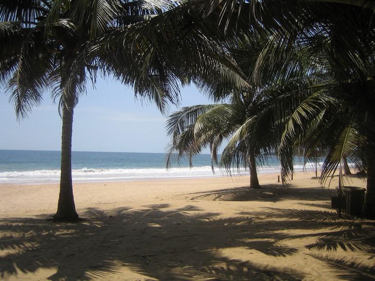 Palm shade at the Labadi beach