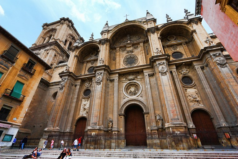 The facade of Granada's stunning (yet incomplete) cathedral; Wenjie, Zhang, flickr