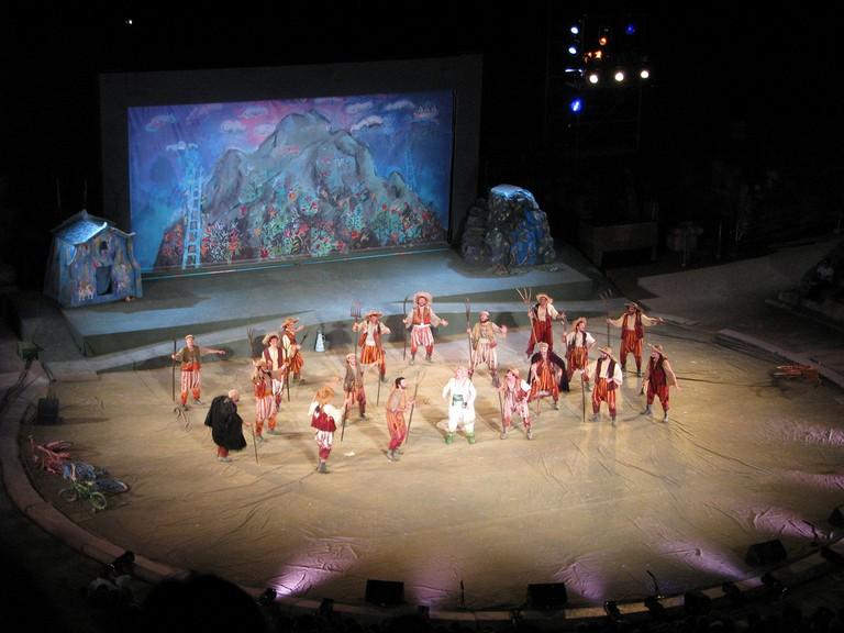Aristofani's Eirini on the Ancient Theatre of Epidaurus