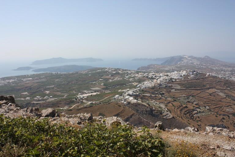 View of Santorini from Mt Profitis Ilias | © Arian Zwegers/Flickr