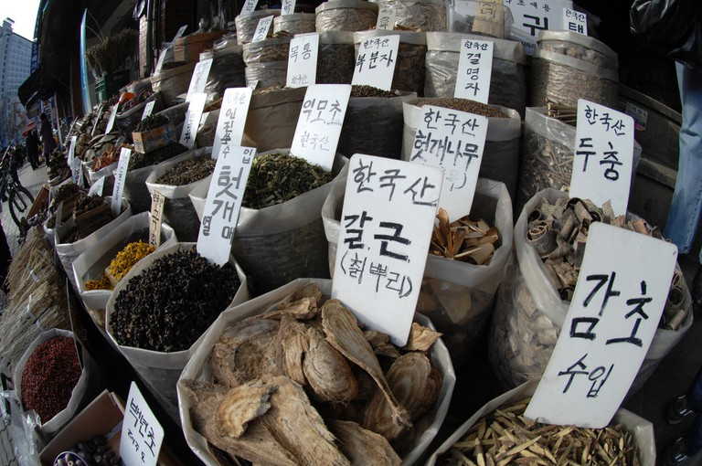 Traditional Asian medicines, roots, herbs and spices