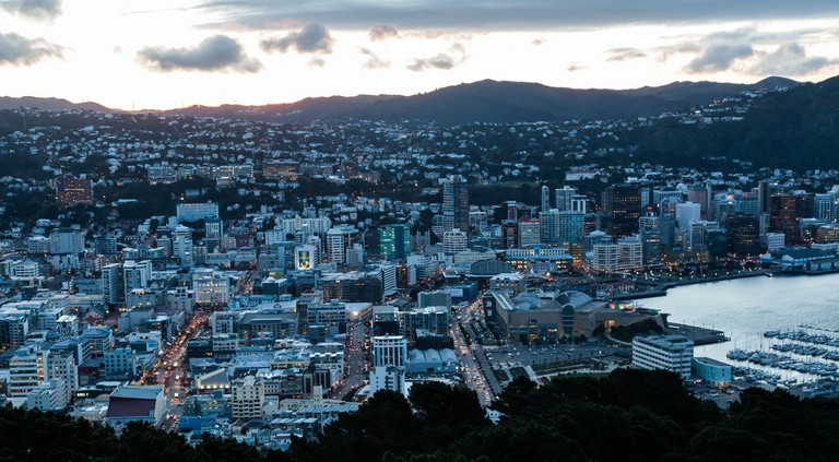 Downtown Wellington from Mount Victoria