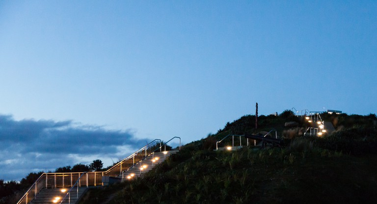 Steps to summit of Mount Victoria