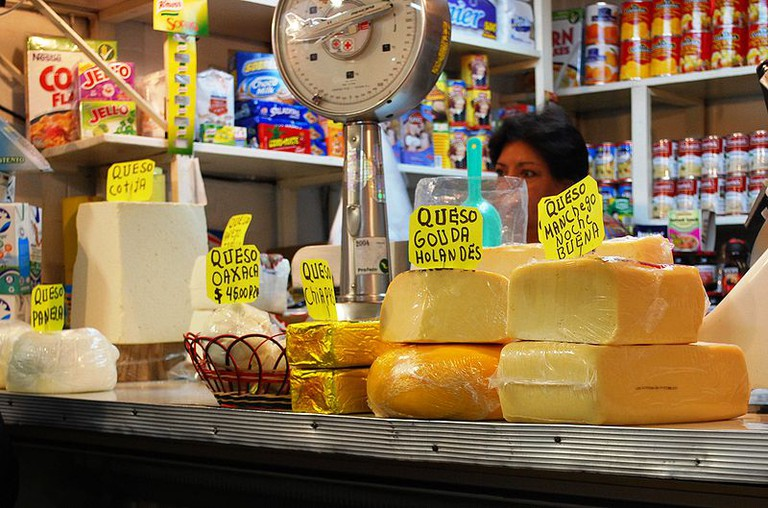 Cheese counter at Coyoacan