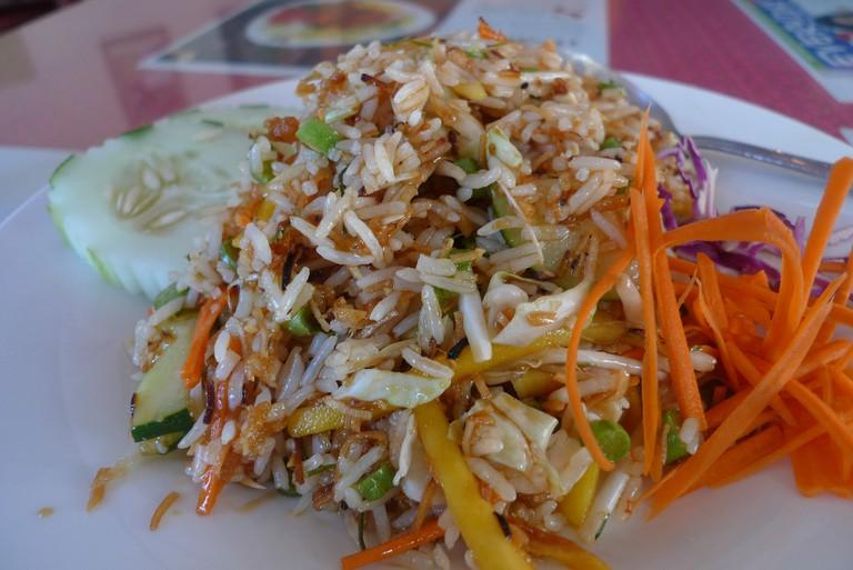 ข้าว ยำ สงขลา khao yam Songkhla — Songkhla-style rice salad