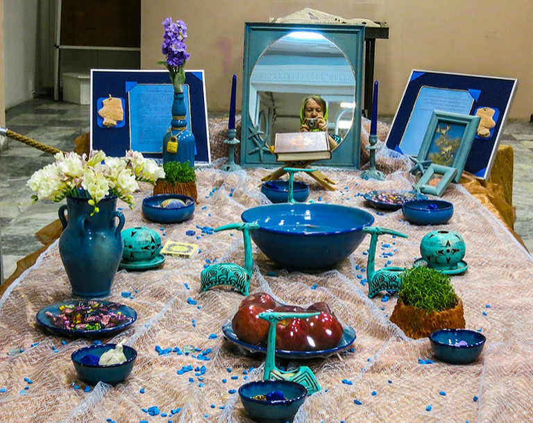 Haft Seen table display