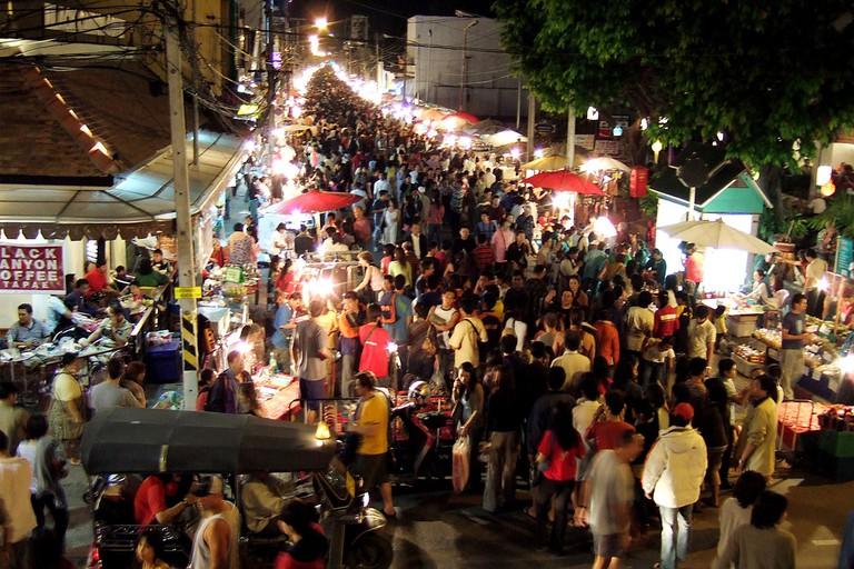 Sunday market in Chiang Mai