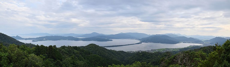 Panoramic View of Amanohashidate