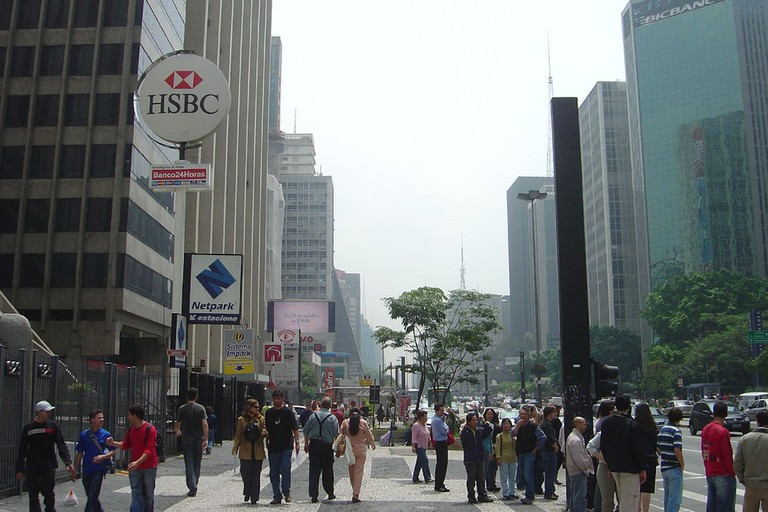 People walking on Avenida Paulista