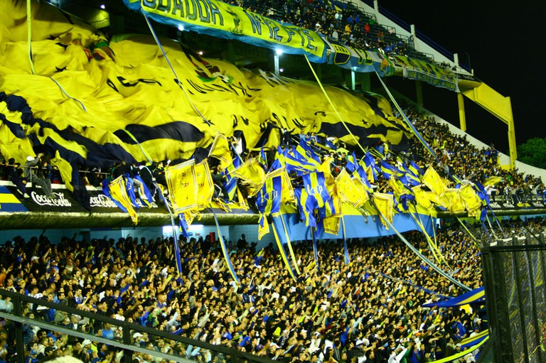 The Boca Juniors crowd at La Bombonera