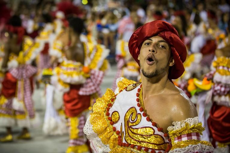 Carnival samba school performer /