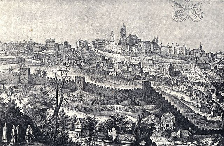 Prague Castle in 1607