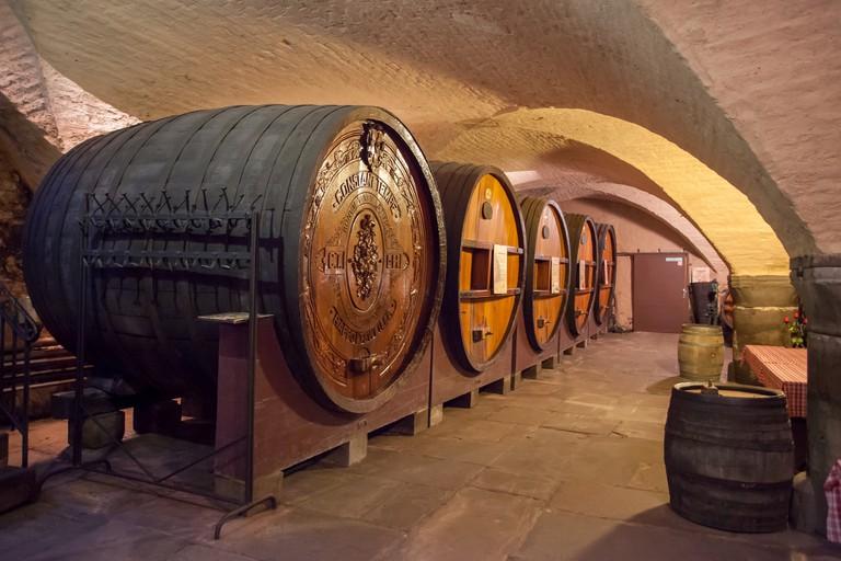 The historic wine cellars in Strasbourg's Hospice