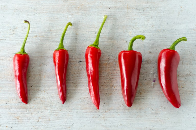 Chili peppers contain a chemical that helps you sweat