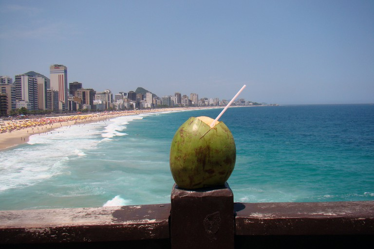 Drinking agua de côco is a refreshing way to beat the heat