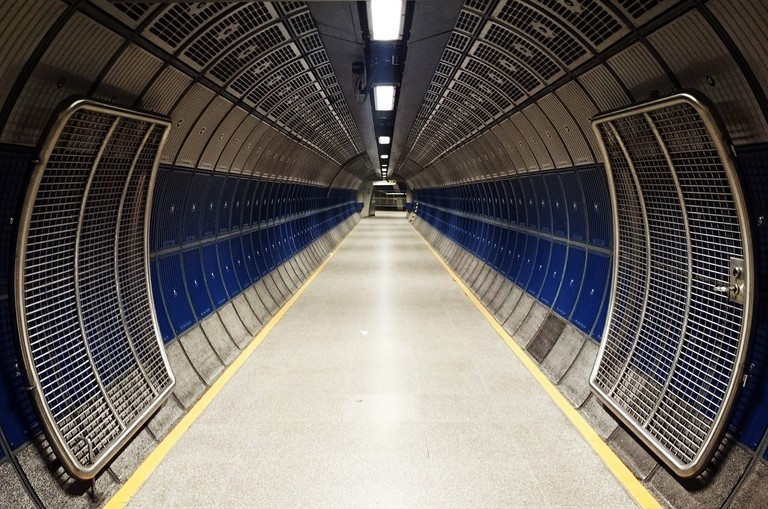 A corridor in the London Underground