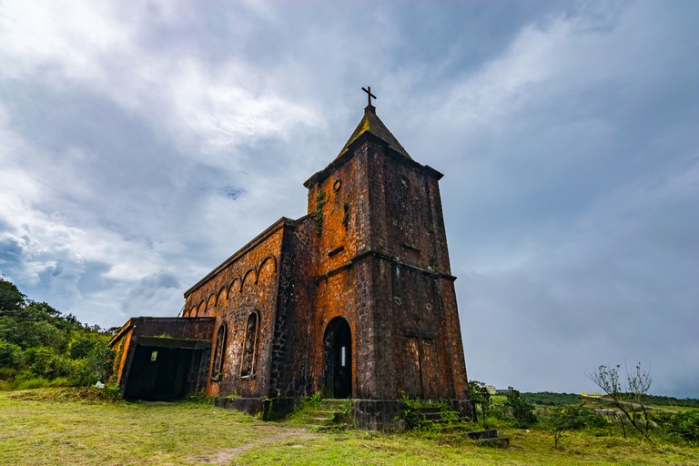 The abandoned church that catered for French colonialists visiting the resort in its heyday @ liesl vandepaepeliere/ shutterstock-com