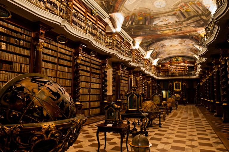 The baroque library in the Clementinum