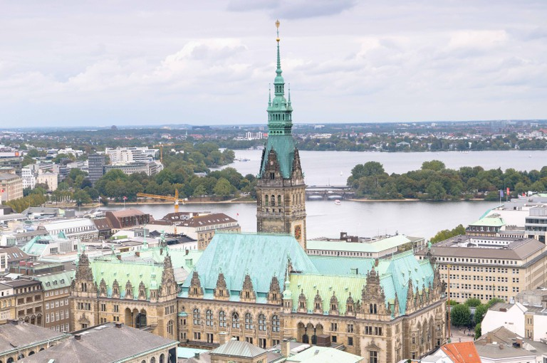 Hamburg City Hall from Above - Hamburg Rathaus - Hamburg, Germany