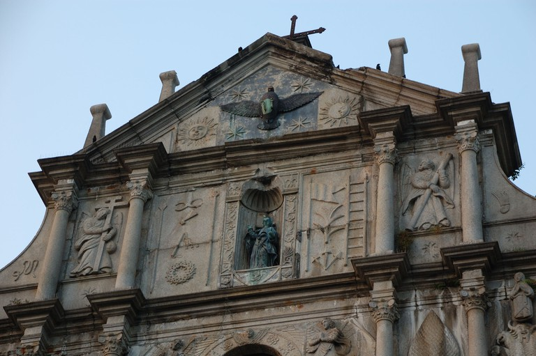Dove symbolises the Holy Spirit - Ruins of St Paul's Macau | © Ming-yen Hsu / Flickr