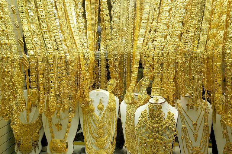 One of many Gold Souk shops