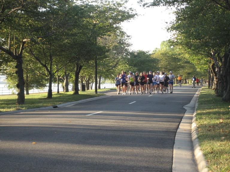 East Potomac Park runners