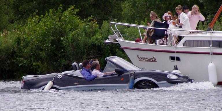 James Bond style amphibious car