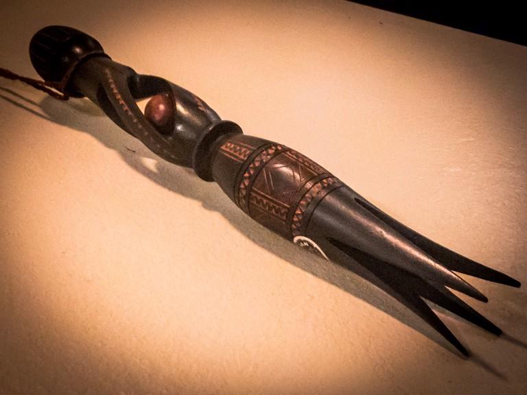 Wooden cannibal fork souvenir from Fiji