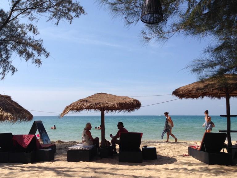 Greenhouse Effect's private stretch of beach