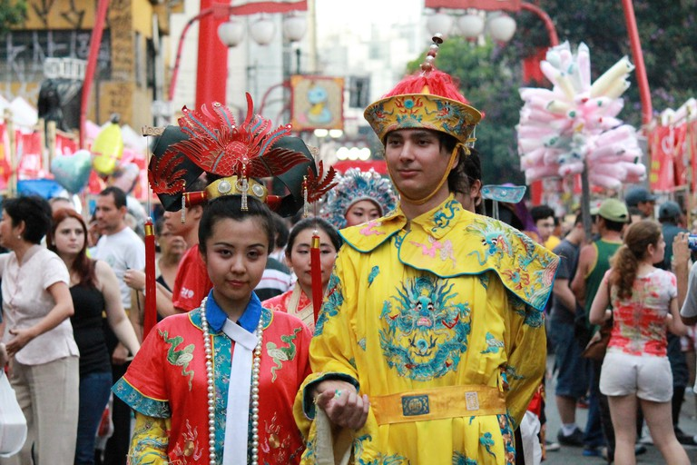Japanese celebration at Liberdade Neighborhood