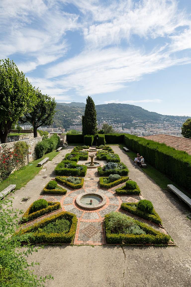 The monastery gardens in Cimiez