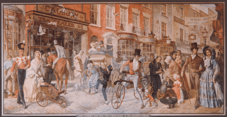 John Cadbury's first shop on Bull St, 1824