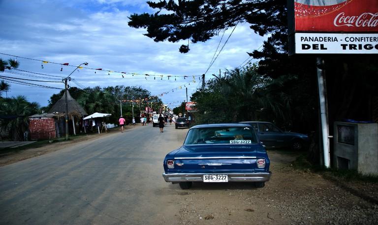 A street scene in La Pedrera