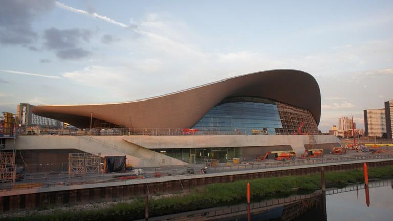 The London Aquatics Centre, designed by Zaha Hadid