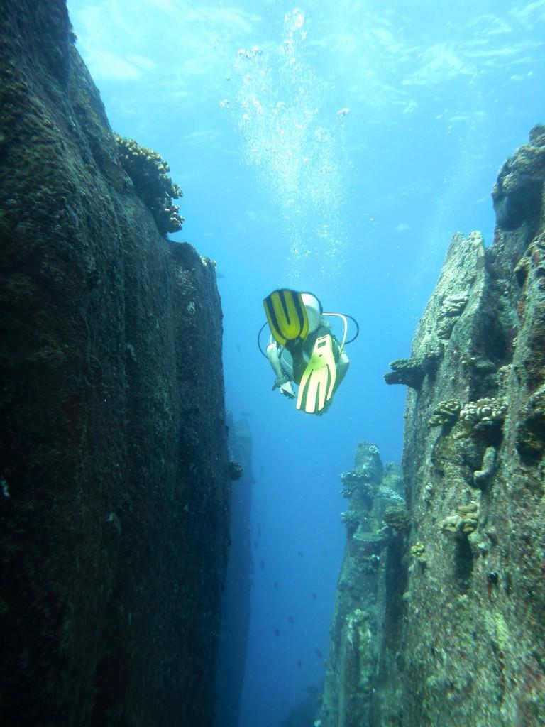 Swim through at South Marianne Island.