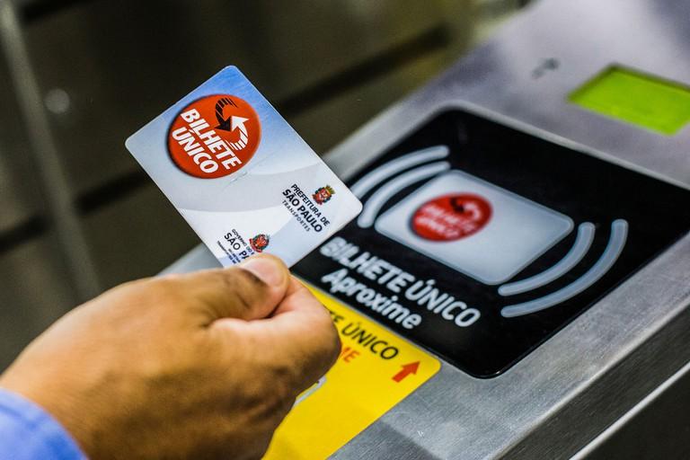 São Paulo Metro Ticket Bilhete Unico