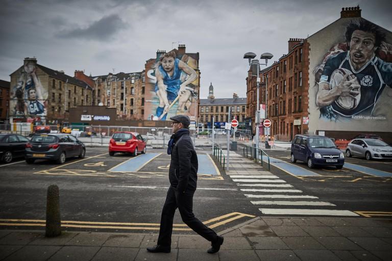 Glasgow in Scotland,   Patrick Commonwealth 2014 murals