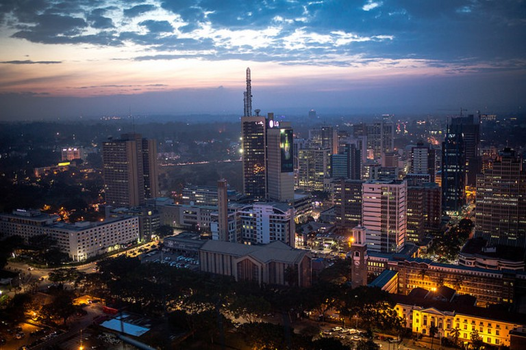 Nairobi at night from Kicc rooftop