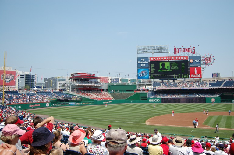 Sweeping views of DC can be seen from Nationals Park