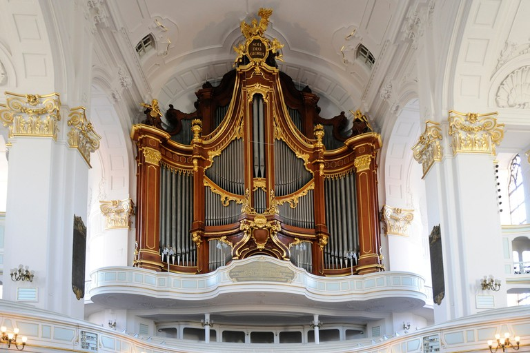 The large organ at the St. Michaelis church