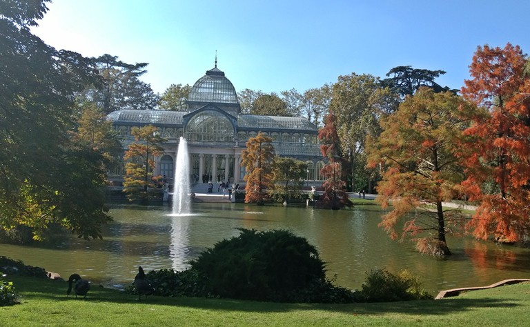 The Palacio de Cristal on a fall afternoon