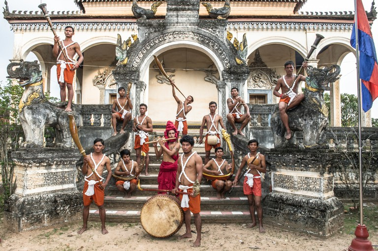 Cambodian Living Arts' Sounds of Angkor troupe play traditional music