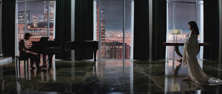Jamie Dornan and Dakota Johnson in 'Fifty Shades of Grey'