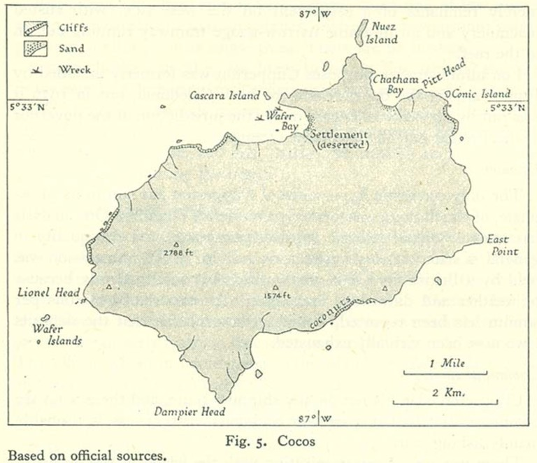 Old Map of Cocos Island | © UK Admiralty/WikiCommons